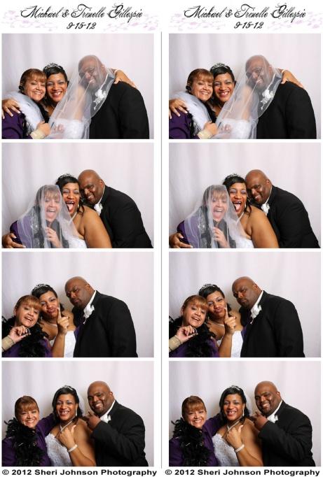 Fun in the Photo Booth at a Metro Atlanta Wedding