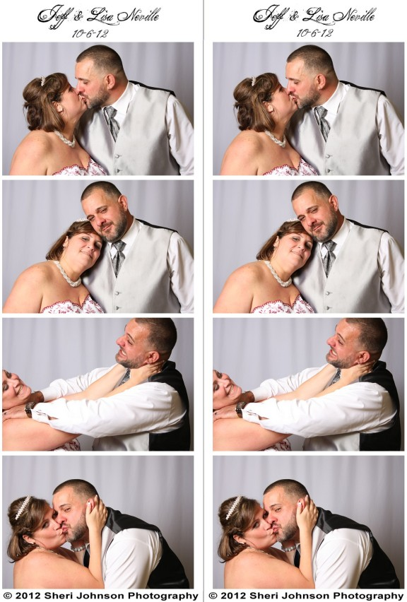 Bride & Groom in the Photo Booth